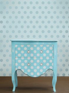 Wall stencil Polka Dot Allover LG - Easy stencil decor for Nurseries, Kids Rooms on Etsy, £20.12