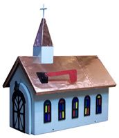 Copper Roof Church Novelty Mailboxes