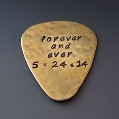Personalized Guitar Pick / Hand Stamped Custom Gifts for Him / Music Gifts / Anniversary Gifts / Father's Day Gifts / Rock - n - Roll