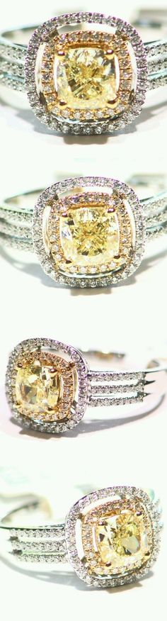 Rings 165044: 1.53Ct 18K Gold Natural Round Cut Solitaire Diamond Vintage Engagement Ring Deco -> BUY IT NOW ONLY: $5131.0 on eBay!
