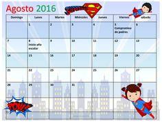 Calendario Académico Agosto 2016 - Mayo 2017 Súper Héroes