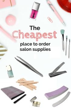 is the cheapest place to get spa supplies? We have found a few great suppliers that you can use to keep your salon and spa expenses down. Home Beauty Salon, Home Nail Salon, Beauty Studio, Beauty Bar, Esthetician Supplies, Esthetician Room, Nail Tech School, Nail Salon Equipment, Nail Salon Supplies