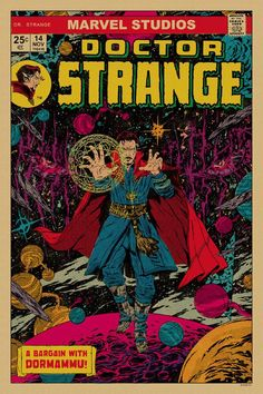 Celebrate 10 Years of Marvel Studios With These Brand New Mondo Posters Comics Vintage, Vintage Cartoons, Cartoon Posters, Disney Posters, Film Posters, Comic Poster, Comic Art, Gig Poster, Doctor Strange Poster
