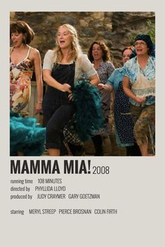 Alternative Minimalist Movie/Show Polaroid Poster - Mamma Mia Iconic Movie Posters, Minimal Movie Posters, Minimal Poster, Iconic Movies, Good Movies, Mamma Mia, Polaroid, Series Poster, Film Maker