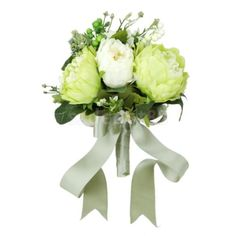 Artificial Green Wedding Bouquets For Brides Bridesmaid Hand Holding Flower in Home, Furniture & DIY, Wedding Supplies, Flowers, Petals & Garlands | eBay