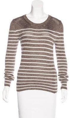 Gucci Metallic Striped Sweater