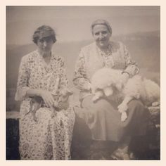 Alice Toklas and Gertrude Stein with Pepe and Basket, [1932]