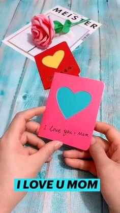Diy Crafts Hacks, Diy Crafts For Gifts, Easy Diy Crafts, Fun Crafts, Creative Crafts, Diy Gifts Videos, Diy Gifts For Mom, Paper Crafts Origami, Paper Crafts For Kids