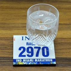 Commemorate a special race with our BibCOASTERS Your Race Bib on one Coaster - Glossy Tile Coaster. Your race number is reproduced on our glossy tile coaster. This coaster make a unique gift for your favorite runner! Miami Marathon, Boston Marathon, Running Bibs, Race Bibs, Run Disney, Tile Coasters, Race Day, Personalized Products, On Set
