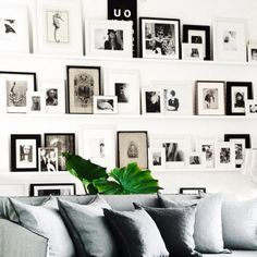A beautiful black and white home gallery wall compliments of Crate and Barrel. | Pulte Homes
