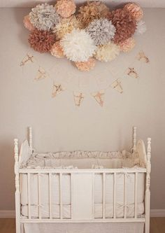 Peach and pink girl nursery featuring Matteo Tat Crib Bedding from @Sarah Nasafi Grayce #laylagrayce #nursery #bedding