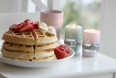 Fluffy Vanilla Waffles