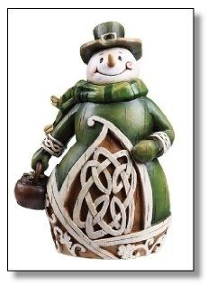 From the Irish Gifts - Celtic Charm Collection Snowman features a carved woodcut style with an aged finish. Snowman is adorned with celtic imagery, includin Christmas Snowman, Christmas Holidays, Christmas Decorations, Christmas Ornaments, Xmas, Christmas Villages, Christmas Ideas, Christmas Things, Kitchen Decorations