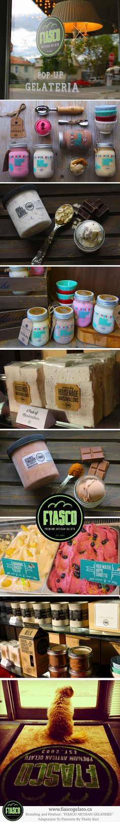 FIASCO / PRODUCT AND BRANDING Premium Artisan Gelatiere. #branding #packaging PD