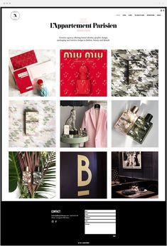 Láppartement Parisien | Design Studio French Websites, Appartement Design, Design Art, Interior Design, Website Layout, Art Direction, Photo Wall, Doodles, Studio