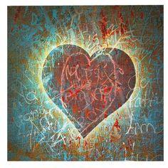 Dieses schöne Wandbild ist ein echter Hingucker. Durch das süße Herzdesign zaubert es eine romantische Stimmung in Dein Zimmer und wertet den Raum optisch auf.