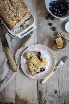 blueberry muffin loaf with cut comb honey - twigg studios Yummy Treats, Delicious Desserts, Sweet Treats, Yummy Food, Comb Honey, Sweet Recipes, Cake Recipes, Best Breakfast, Breakfast Ideas