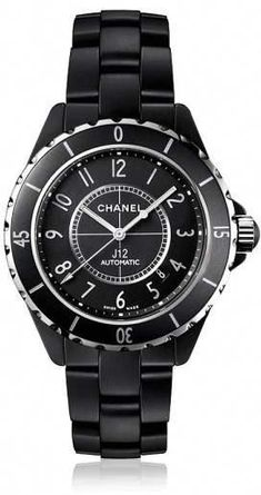 Chanel J12 Black Ceramic Unisex Watch 38mm Automatic  whatIwouldbuyhim 7e2b25445576