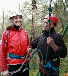 The Duchess looked thrilled to be taking part in the exciting activity...