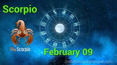 Scorpio Daily Horoscope: February 09, 2015 Sagittarius Horoscope Today, Sagittarius Daily Horoscope, Aquarius Daily, Daily Love Horoscope, Cancer Horoscope, Astrology, Horoscopes, Youtube