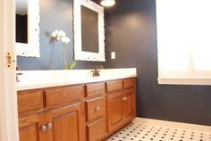5 ideas update oak cabinets without a drop of paint master bath