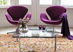 Les chaises Swan du danois Arne  Jacobsen