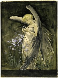 Dora Wheeler  (1856–1940). Fairy in Irises, 1888. The Metropolitan Museum of Art, New York. Gift of Candace Pullman Wheeler, 2002 (2002.355.4) #iris #flower