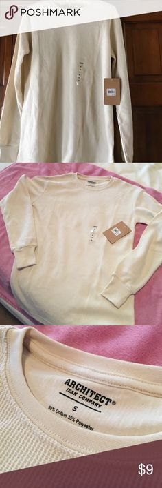 Men's small shirt New with tags - brand: Architect Jean Co, size: men small, color: cream, long sleeve Shirts Tees - Long Sleeve