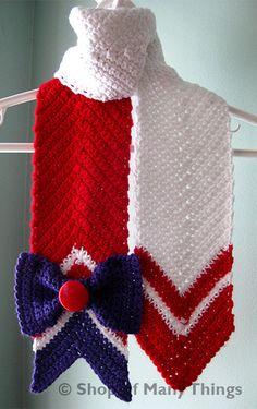 Sailor Mars Scarf by ShopOfManyThings on Etsy