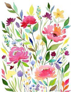 Фото акварелью цветы