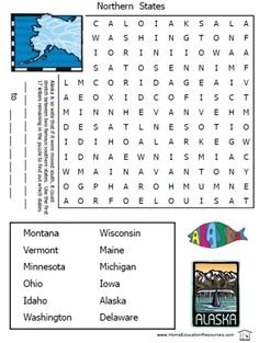 50 States Worksheets Packet With Puzzles Capitals Match Id States By Shape And Location