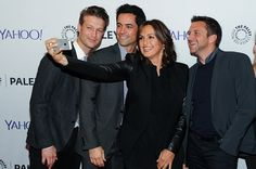 Mariska & Her Boys: Peter Scanavino, Danny Pino and Raul Esparza (Photo : Getty Images / Monica Schipper)