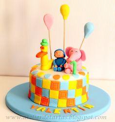 Tarta Fondant Cumpleaños Pocoyo y sus amigos
