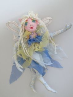 WIND a soft sculpture fairy doll rag doll cloth by Kaeriefaerie52, $40.00