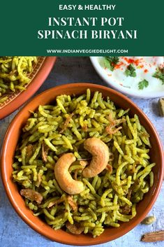 Indian Vegetarian Food and Cooking – Useful Articles Spinach Recipes, Veggie Recipes, Indian Food Recipes, Vegetarian Recipes, Veggie Food, Rice Recipes, Healthy One Pot Meals, Easy Healthy Recipes, Amigurumi