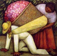 El porteador de flores. Diego Rivera.
