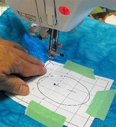 Paper Templates make Machine Embroidery Easy!