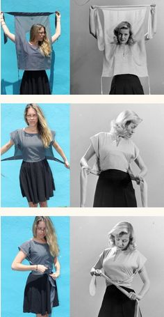 Retro Inspired Wrap Shirt Tutorial Retro wrap shirt sewing tutorial for women Sewing Clothes Women, Diy Clothing, Clothing Patterns, Sewing Patterns, Clothes For Women, Crochet Patterns, Crochet Clothes, Shirt Patterns For Women, Diy Clothes Tops