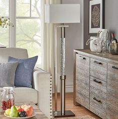 Modern Rectangular Shade Dancing Water Floor Lamp Indoor Lighting Home Decor #FloorLamp