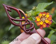 Celtic Flame Hair Stick By ArtisIgnis Double-Sided by ArtisIgnis