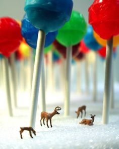 19. deer in lollipop forest