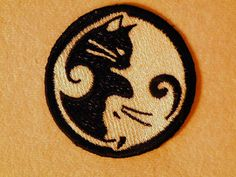 Yin-Yang Kitty Iron on Patch by GerriTullis on Etsy
