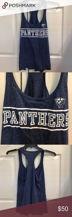 Size M navy Panthers racerback tank top Size M navy Panthers racerback tank top Tops Tank Tops