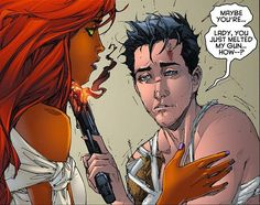 Kori and Jason Todd [Red Hood and the Outlaws]. Nightwing, Gotham City, Birds Of Prey, Redhood And The Outlaws, Digimon, Troy, Red Hood Jason Todd, Superman, Arkham Knight
