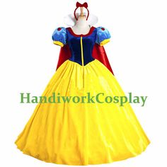 Disney Snow White Princess Costume Snow White Cosplay Outfit (Princess Snow White Dress) Custom Any Size For Women,Kids And Plus Size on Etsy, $118.00