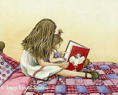 Reading with and to little sisters...(I had four).