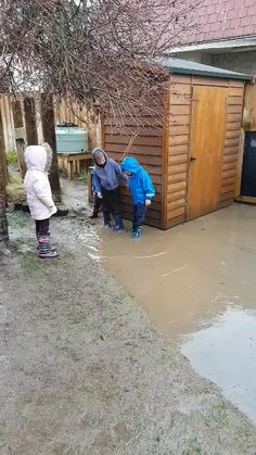 """Puddle jumping is always better with friends.  """"There is no such thing as bad weather, only inappropriate clothing"""" - Sir Ranulph Fiennes    #Childcare #Daycare #Kindergarten #Preschool #EarlyLearning #EarlyEducation #EarlyChildhoodEducation #EarlyLearningCentre #ChildcareCentre #ChildcareCenter #DaycareCenter #DaycareCentre #LearningLinks #LearningLinksChildcare Early Education, Early Childhood Education, Kindergarten Classroom, Kindergarten Activities, Early Learning, Kids Learning, Puddle Jumping, Childcare Activities, Sustainable Environment"""