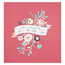 Buy World's Most Loveliest Mum Mother's Day Card Online at johnlewis.com