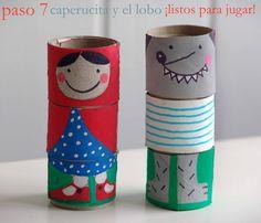 C on unos canutos de cartón del papel higiénico  se pueden hacer estos simpáticos personajes intercambiables , siguiendo los siguie...