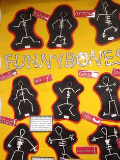 Funnybones display Primary Science, Primary Teaching, Teaching Science, All About Me Eyfs, All About Me Topic, Creative Activities, Art Activities, Nursery Activities, Classroom Activities
